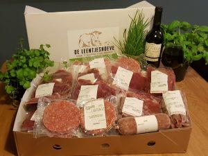 Luxe rundvleespakket de leentjeshoeve horssen met wijn