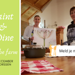 Paint en Dine at the farm