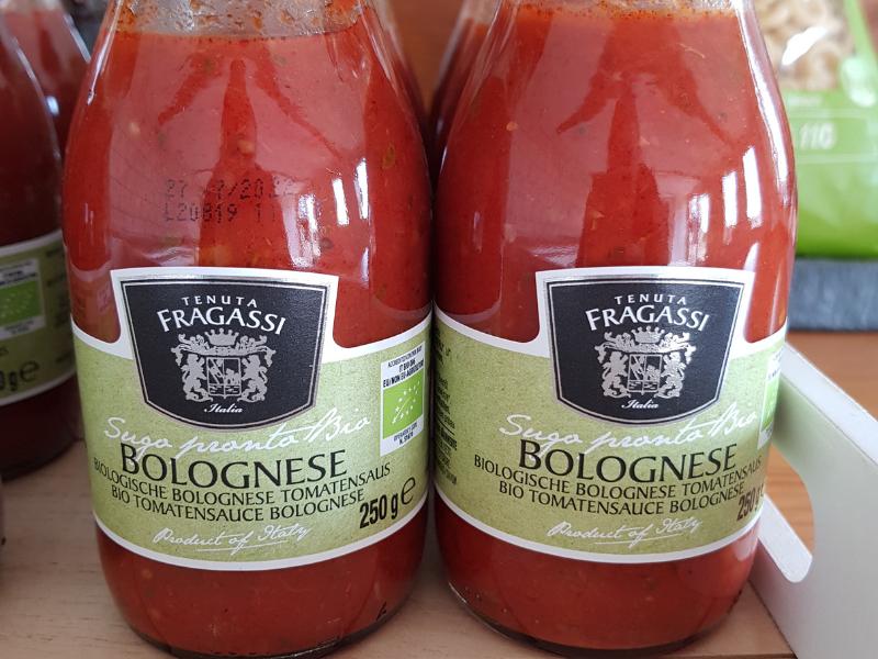 Biologische bolognese tomatensaus